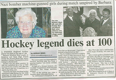 Bar West obituary local paper Nov 2014