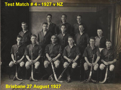 Australian team that played New Zealand in Brisbane in August 1927 Nimmo is standing back row furthest right